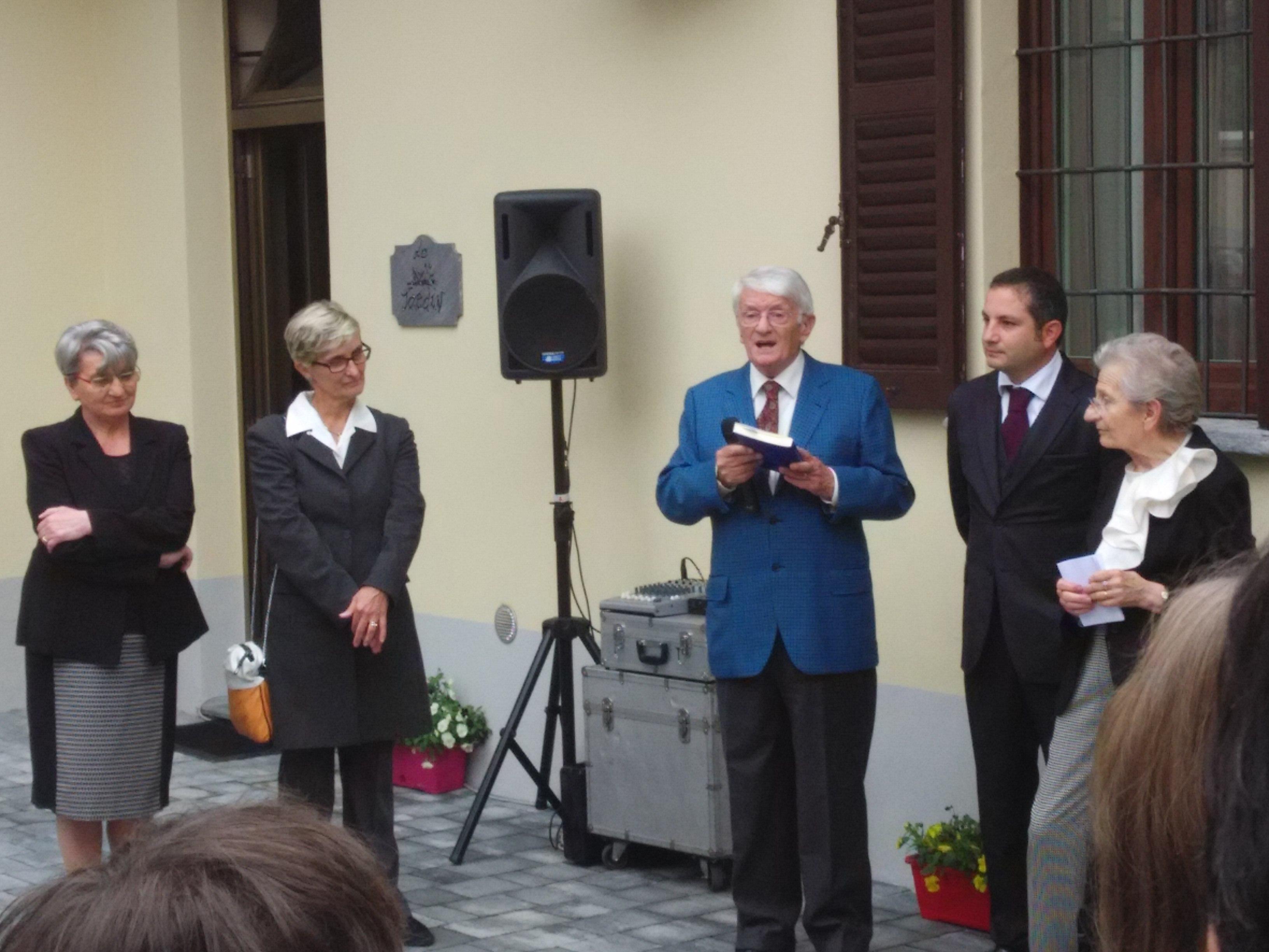Inaugurazione a Nova Milanese de La casa di Margit