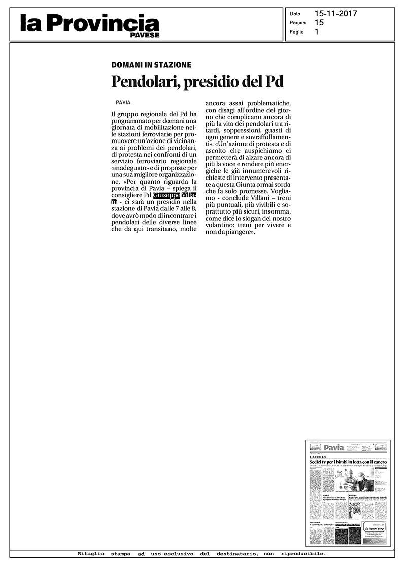 pendolari-presidio-pd